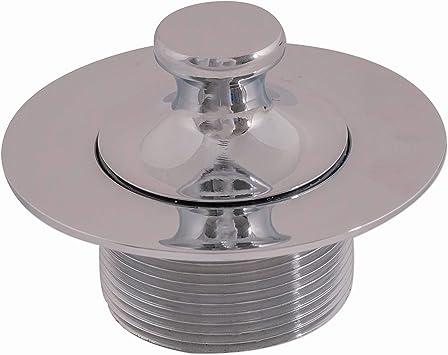 1-5//8-16 UNC-2A Renewed 79438CP-F Chrome Westbrass 1-1//4 NPSM Fine Thread Twist /& Close Bath Drain Plug