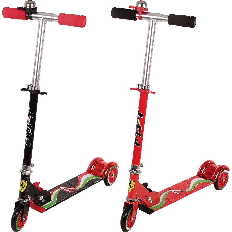Ferrari - Patinete de 3 ruedas plegable para niños, color ...