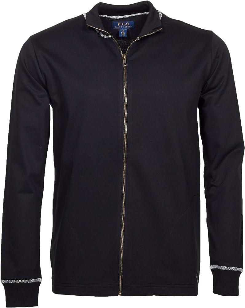 Ralph Lauren Polo Mens Loop Back Jersey Zip Top - Polo Black - XL ...