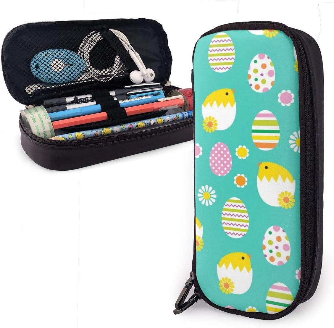 Estuche para lápices de Pascua con diseño de pollitos y huevos para niños y niñas, estuche para lápices de gran tamaño para estudiantes, universidades, suministros escolares y oficina: Amazon.es: Oficina y papelería