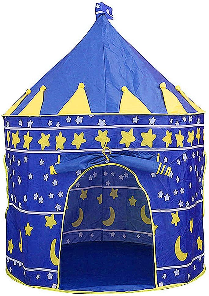 BEIKOTT Kids Play Tent, Toddler Playhouse Prince Princess Castle, Foldable Pop Up Kids Tent with Carrying Bag for Gifts/Travel/Home/Outdoor
