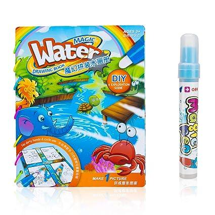 Amazon.com: Tangomall Undersea Animal Paint with Water Books ...