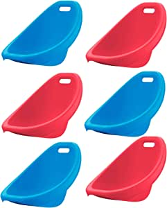 American Plastic Toys APT-13150-6PK Children's Scoop Rocker Chair for Reading and Gaming, Red and Blue (6 Pack)