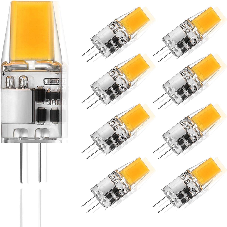 ZJYX 9X G4 LED Bombilla 5W Dimmable Bombilla Lámpara LED 500LM Equivalente a Halógenas 50W AC/DC12V,Cool White 6000k