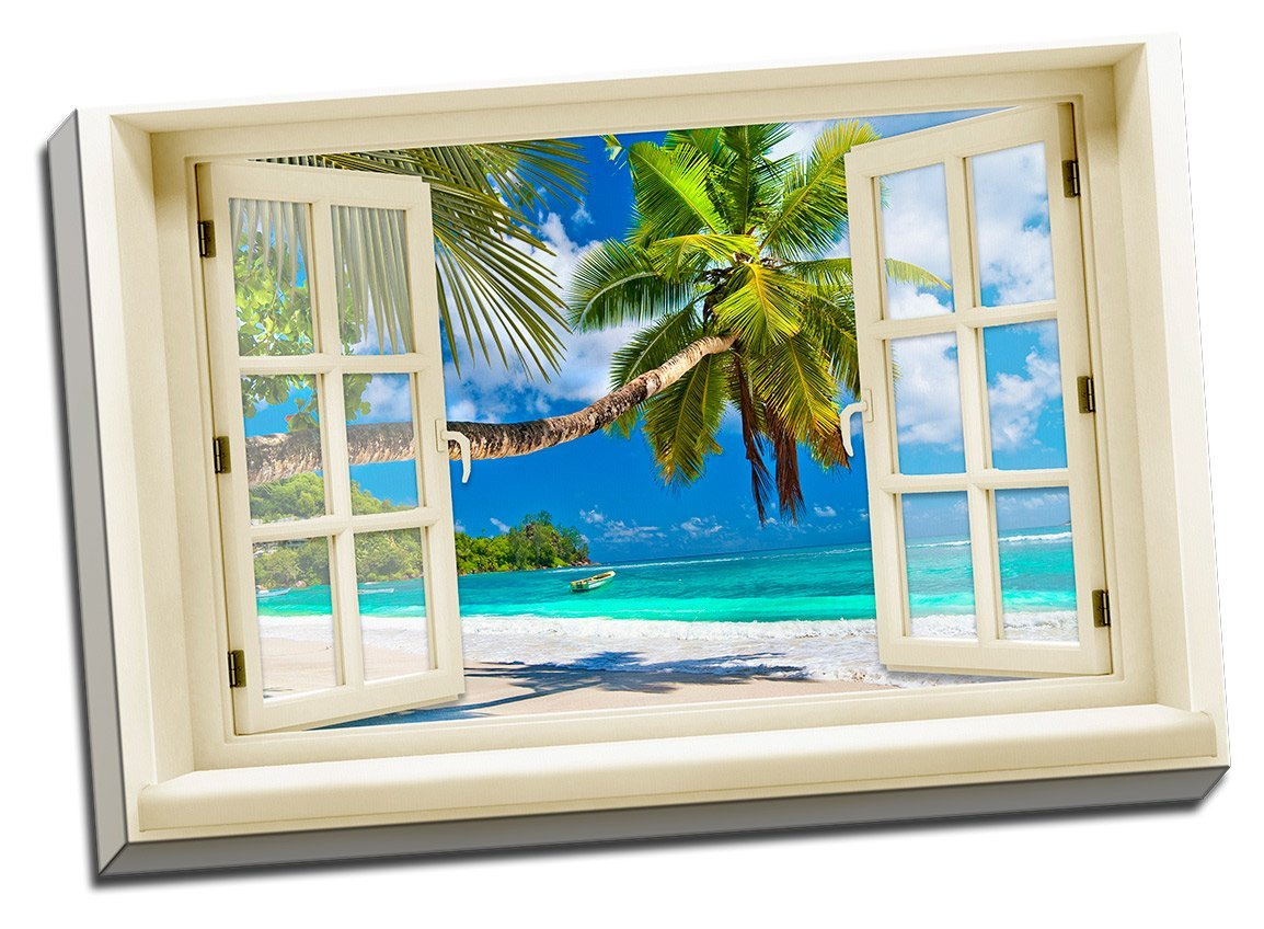 Amazon.com: Glimpse Into The Beach Canvas Wall Art: Prints: Posters U0026 Prints