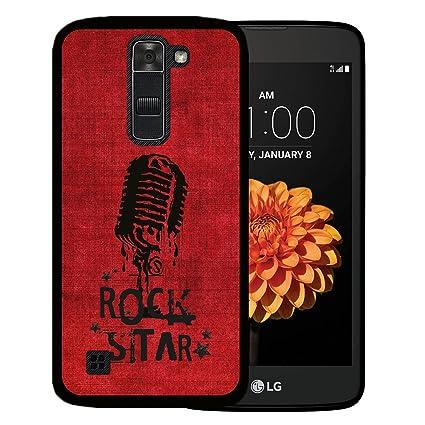 WoowCase Funda para LG K7, [LG K7 ] Silicona Gel Flexible Microfono Estrella de Rock, Carcasa Case TPU Silicona: Amazon.es: Electrónica