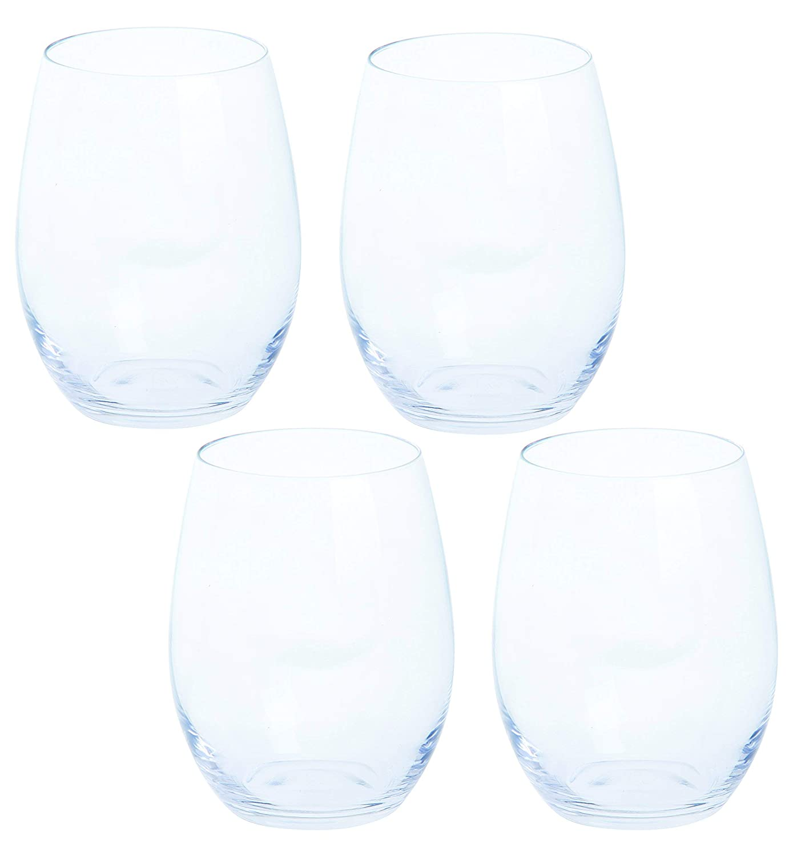 14cb2920a11 Amazon.com: Dartington Crystal Wine Plus Stemless Red Wine Glass (Set of  4): Health & Personal Care