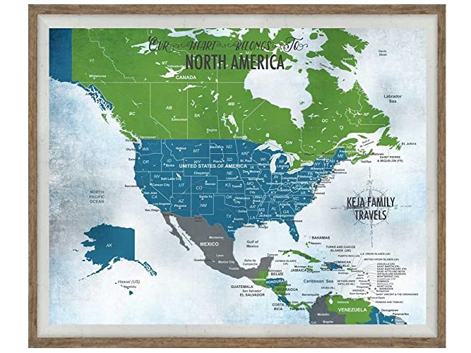 Amazon usa push pin framed map20x24 inches keepsake gift usa push pin framed map20x24 inches keepsake gift gift for parents gumiabroncs Image collections