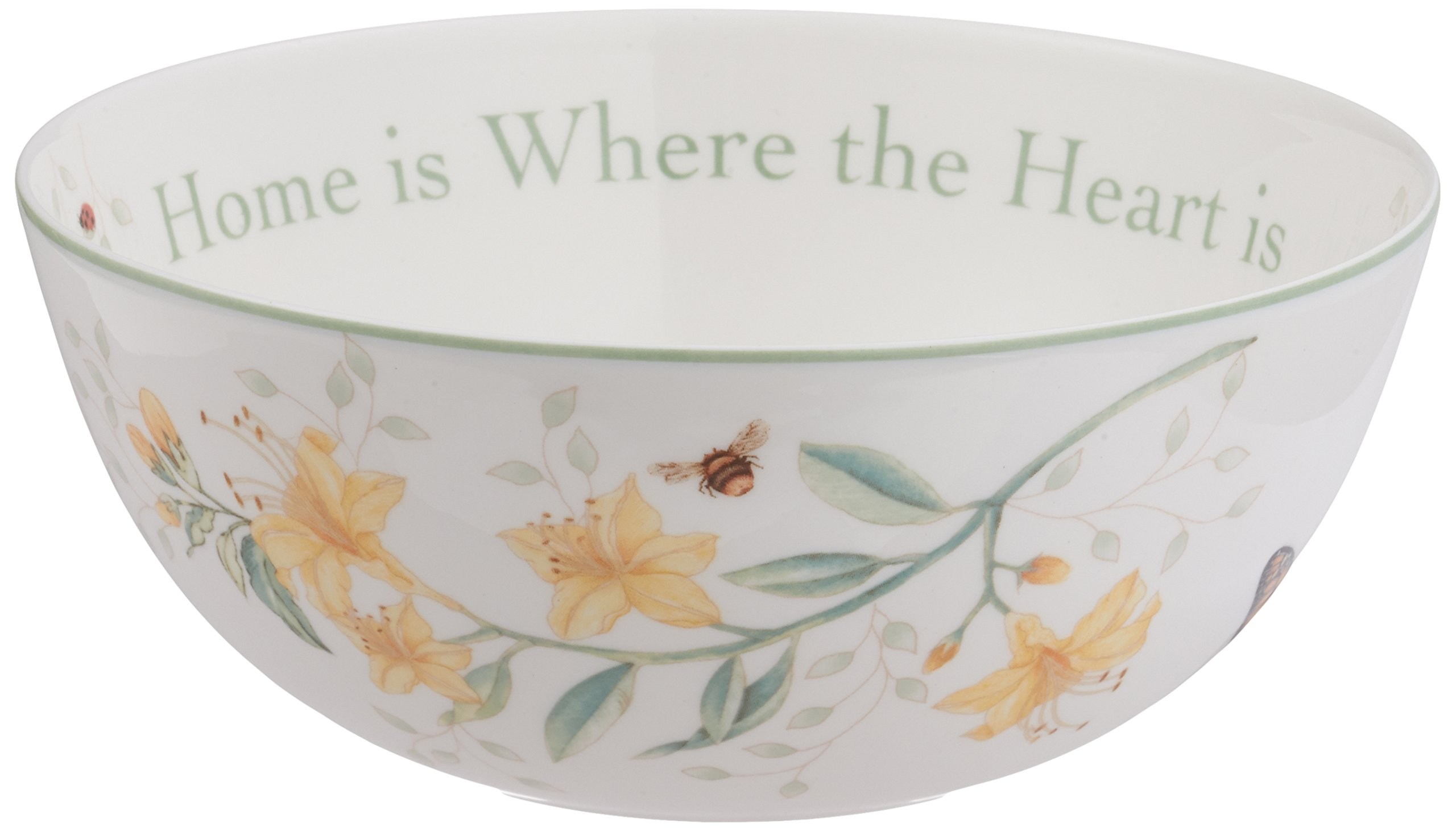 Lenox Butterfly Meadow ''Home Is Where The Heart Is'' Serving Bowl