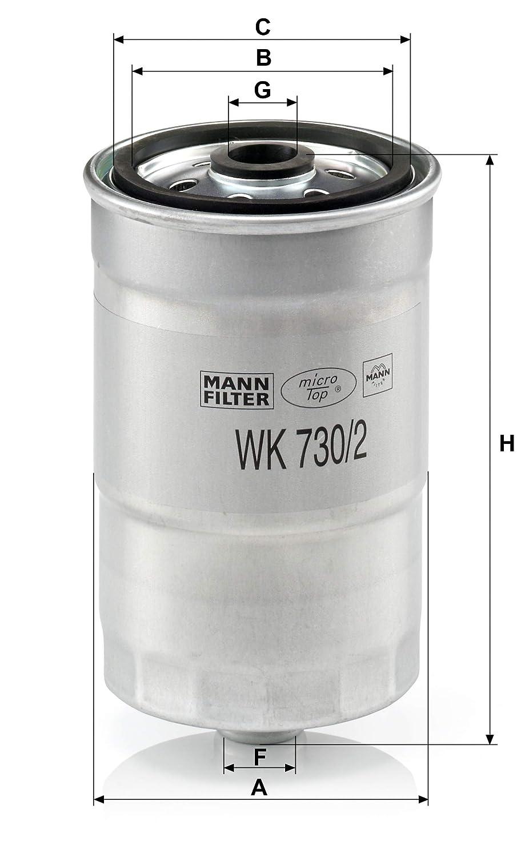 Kraftstofffilter Satz mit Dichtung F/ür PKW Original MANN-FILTER Kraftstofffilter WK 730//2 X Dichtungssatz