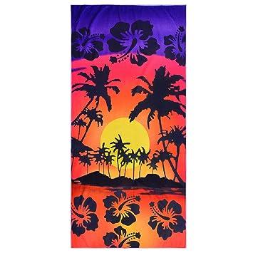 Nibesser - Toalla de Playa de Microfibra, Diseño de árbol de Coco, Ligera,