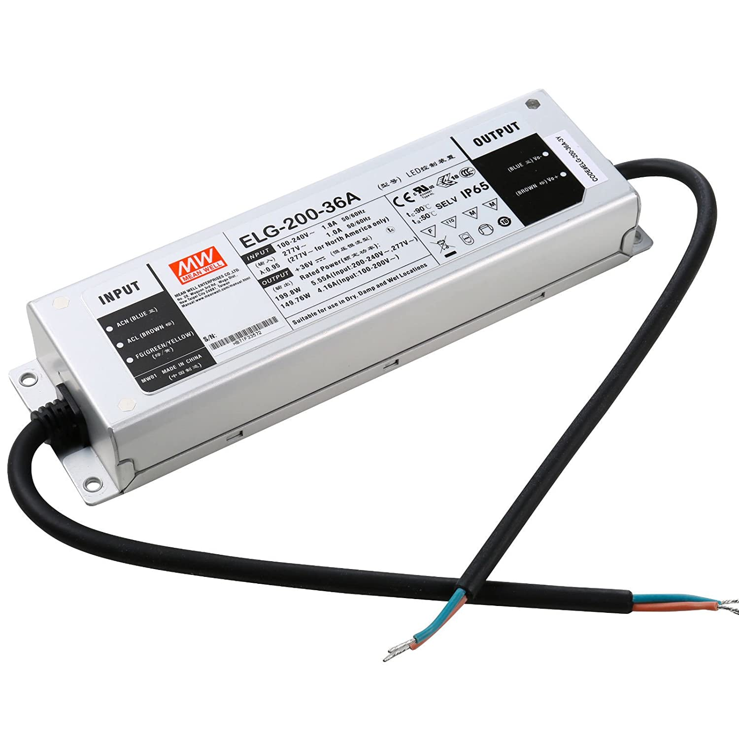 MEAN WELL ELG 200 144200W Constant Voltage Current