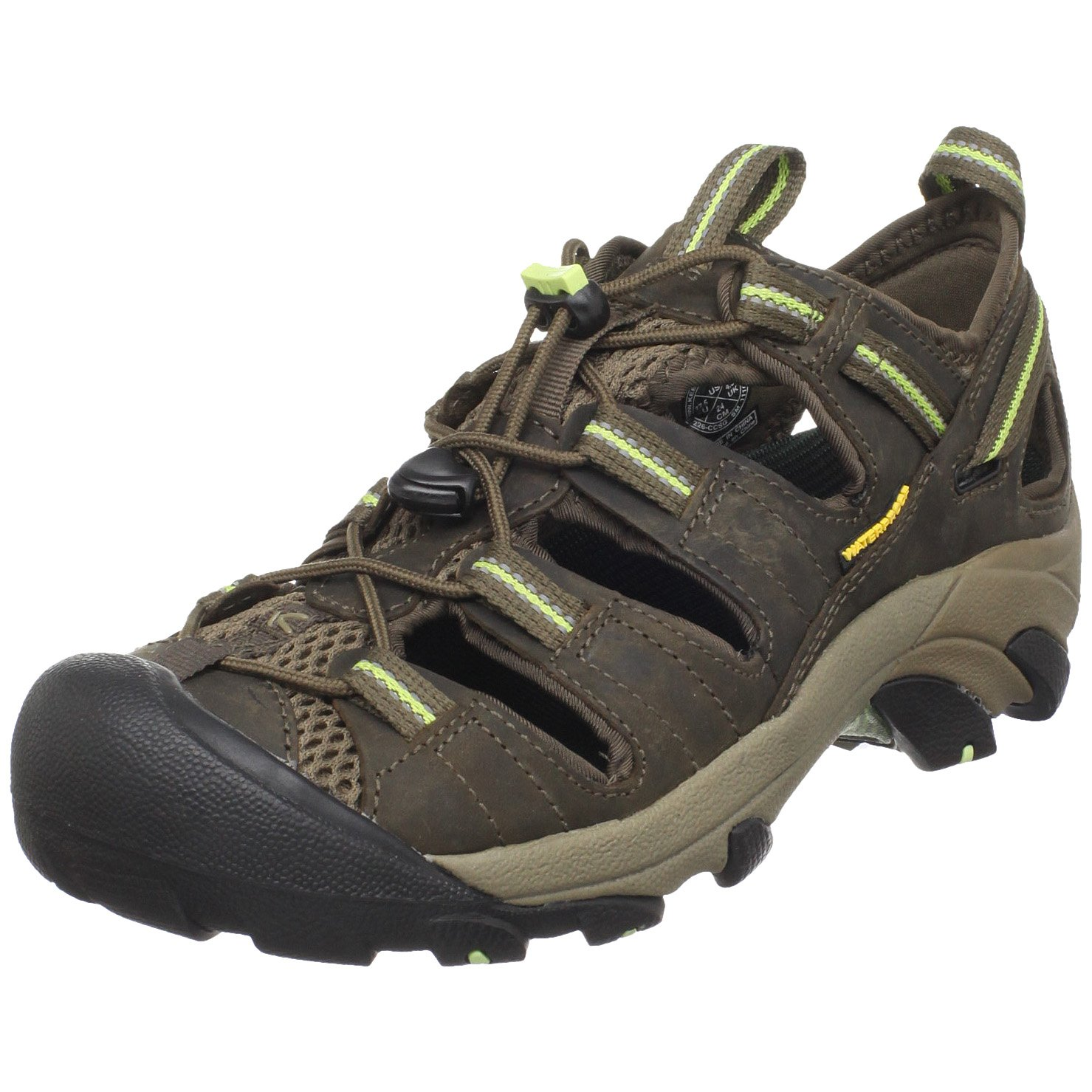 KEEN Women's Arroyo II Hiking Sandal,Chocolate Chip/Sap Green,8 M US by KEEN