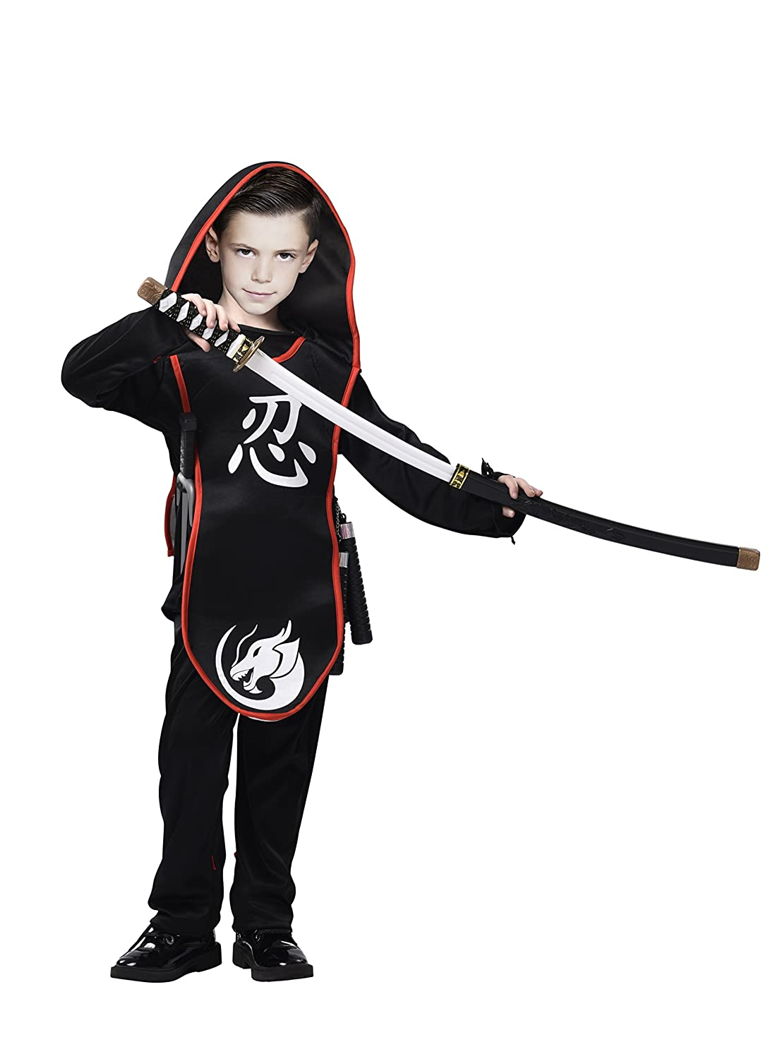 Amazon.com: Ninja Costume for Kids- 3-Piece Assassin Master ...