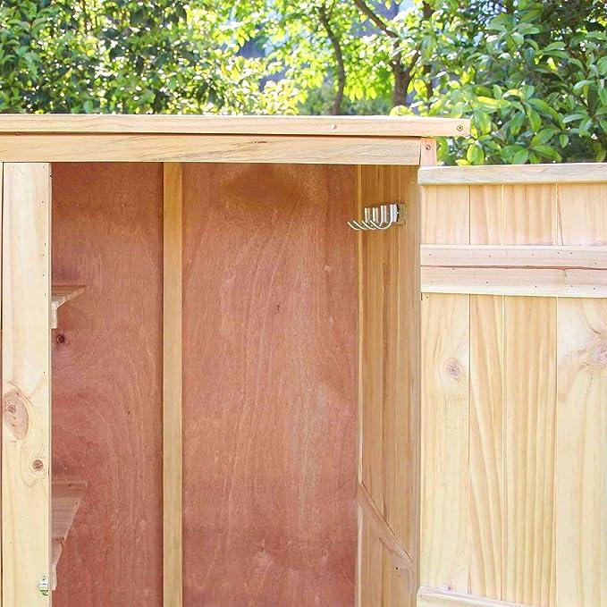 Caseta de jardín 1 Puerta Caseta para herramientas y aperos Armario de jardín Armario exterior: Amazon.es: Jardín