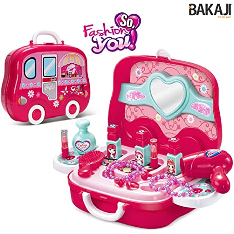 76adceb92d Bakaji Valigetta Estetista Centro Bellezza Fashion Per Bambine Giocattolo  Con 17 Accessori Gioco Portatile Richiudibile