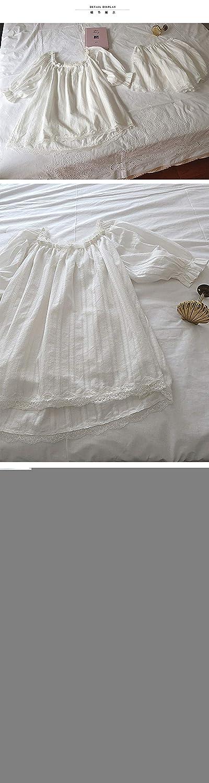 MAOGELEI Pigiama Set Pigiama da Donna Carino Top in Cotone con Volant Pantaloncini Set da Pigiama Vintage da Donna in Pizzo Set da Notte Vittoriano Loungewear