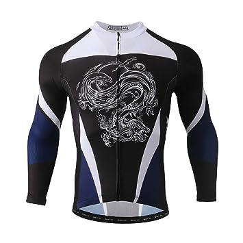 SXSHUN Maillots de Ciclismo para Hombres Ropa de Ciclismo Camisa ...