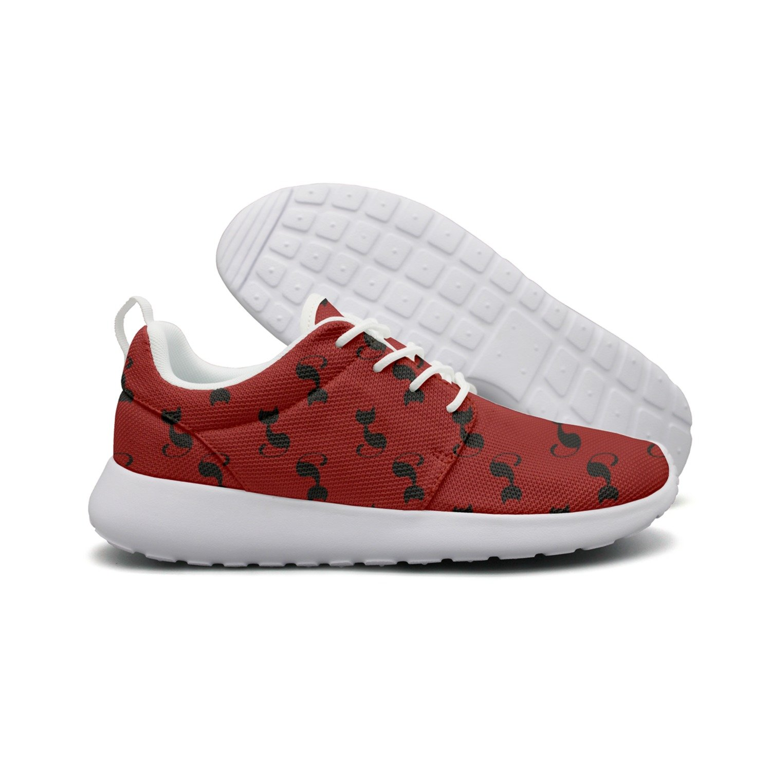 Hoohle Sports Cute Black Cat Red Background Womens Flex Roshe One Flex Womens Mesh Casual Shoes for Men B07DCHQ4GV Fashion Sneakers 0b8fef