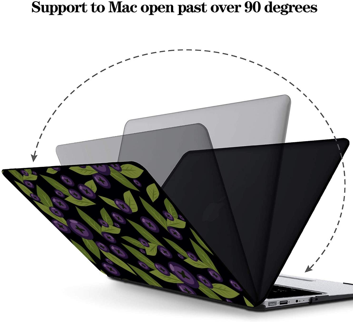 MacBook Air Case Summer Sweet Sour Fruit Blueberry Plastic Hard Shell Compatible Mac Air 11 Pro 13 15 MacBook Air Accessories Protection for MacBook 2016-2019 Version