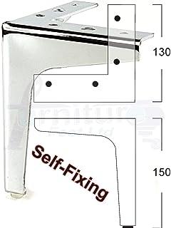 4 X CHROME FURNITURE FEET METAL FURNITURE LEGS FOR SOFAS, CHAIRS, STOOLS  RJB181