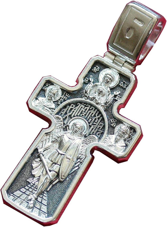 Croix Crucifix Russe Orthodoxe Archange Saint Michel Saint Patron DM69