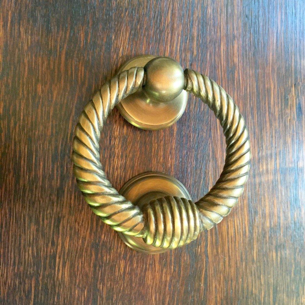 Antikas - Tü rklopfer Antik Messing - massiver Klopfer Ring - PZ Beschlä ge Haustü ren