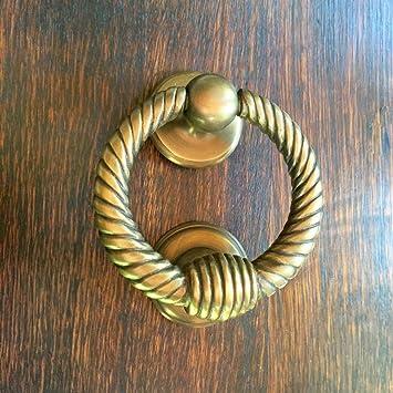 Türklopfer Ring aus antik Messing