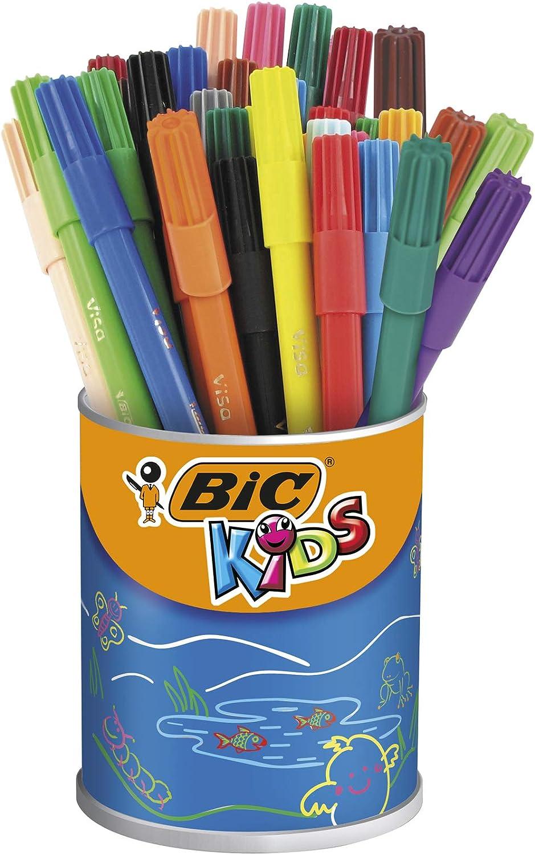BIC Kids - Paquete de rotuladores permanentes en caja metálica (36 de unidades), multicolor: Amazon.es: Oficina y papelería