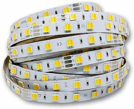LED Band stripe flexibel 5 Meter 300 LED 24 Watt 120° kalt weiß ca 6500K 12V//DC