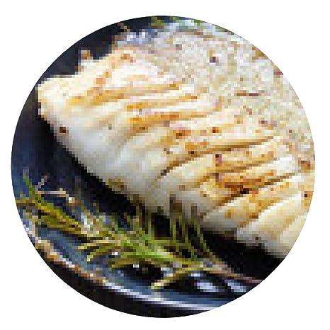 alfombrilla de ratón Bacalao, bacalao, frito, sartén de hierro fundido - ronda -
