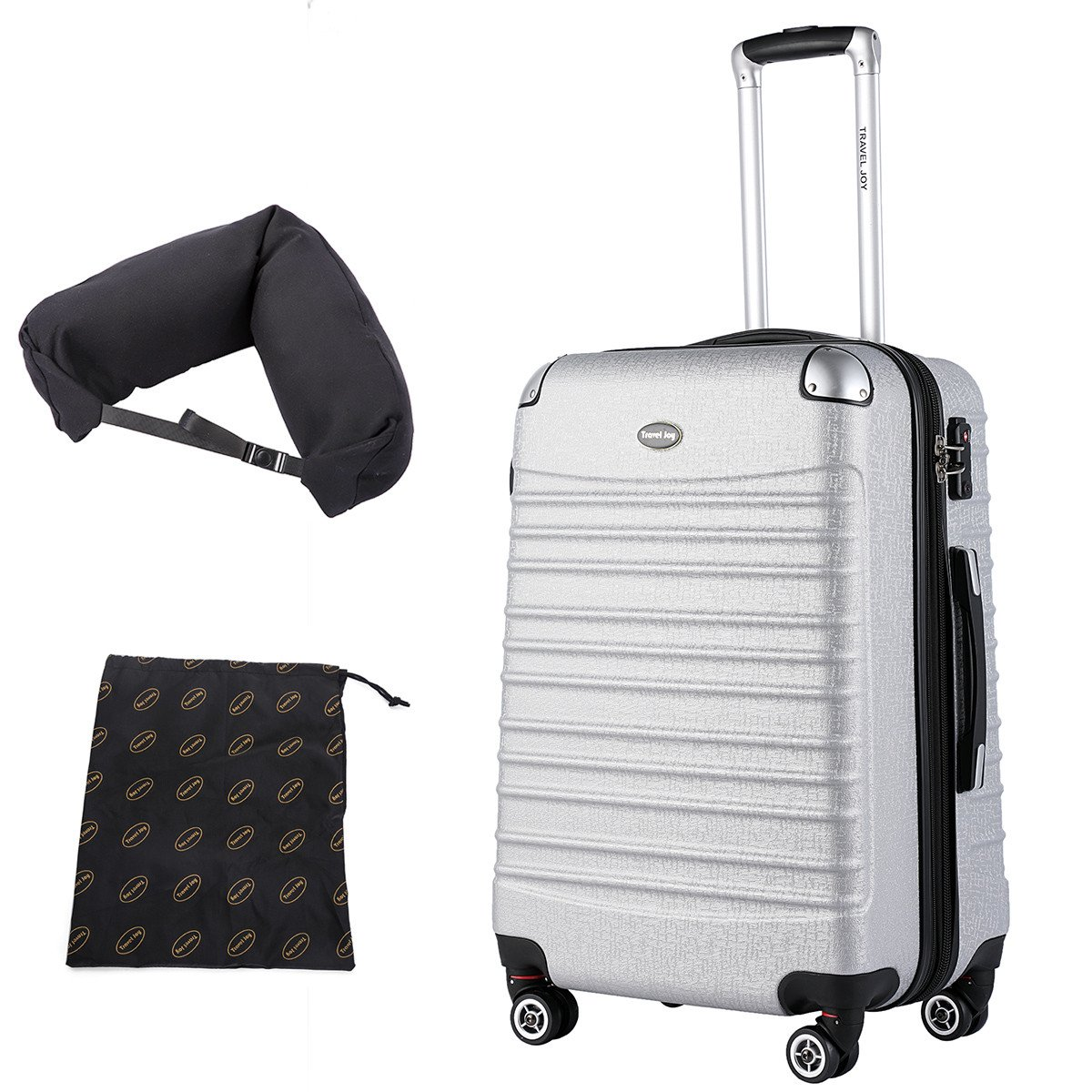 Expandable Hardside Spinner Carry On Luggage, Lightweight Carry Ons, with Free Gifts, 20 inch