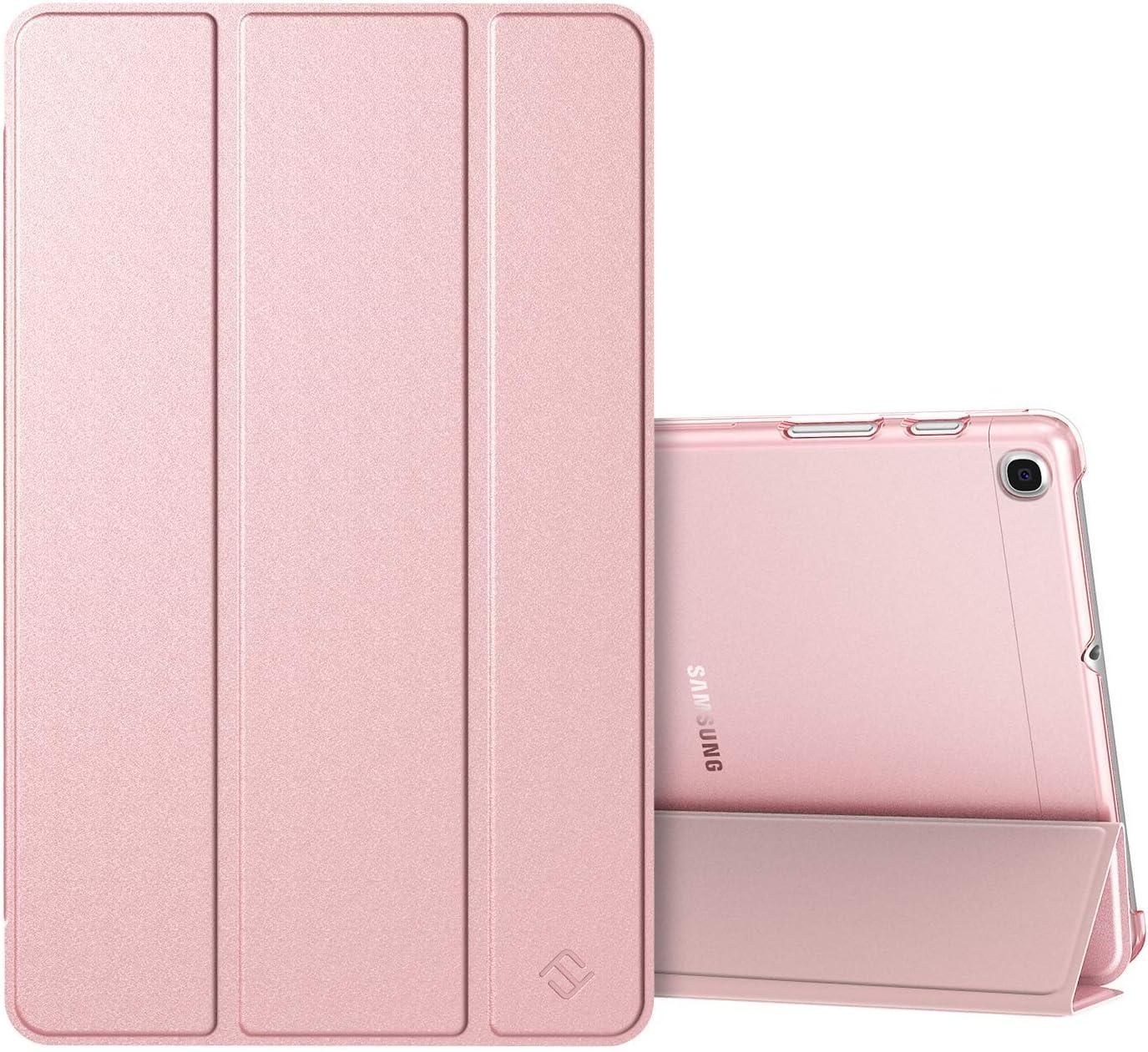 Fintie Funda Compatible con Samsung Galaxy Tab A 10.1 2019 - Trasera Transparente Mate Carcasa Ligera con Función de Soporte para Modelo de SM-T510/T515, Oro Rosa