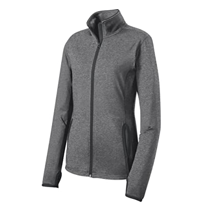 Joe's USA Ladies All Sport Wicking Stretch Contrast Full-Zip Jackets