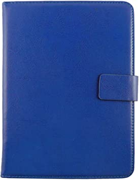 Emartbuy Smart Hard Back Flip Stand Wallet Cover for iBall Slide WQ77 : Size  7 8 Inch    Blue Plain Tablet Accessories