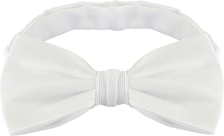 Bow Ties For Men Mens Woven Pre Tied Bowties For Men Bowtie Tuxedo Solid Color Formal Bow Tie