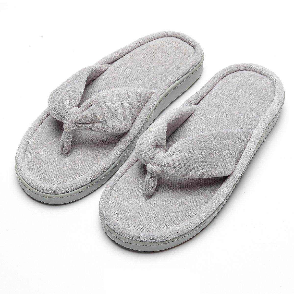 INFLATION Women's Thong Flip Flops House Indoor Slippers Fluffy Slippers Slip on Outdoor Slippers for Women
