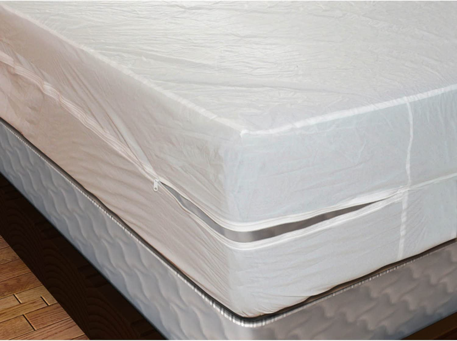 "Shop Bedding Royal Mystique Vinyl Zippered Mattress Cover (Queen, 9"" Depth) - Waterproof, Heavy Duty Vinyl Mattress Protector"