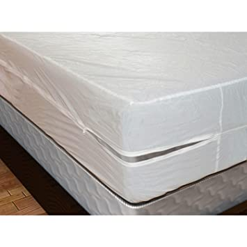 waterproof size sheet dp mattress cover style plastic soft vinyl amazon protector com ac white twin