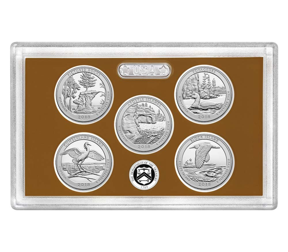 2018 S Silver Quarters 2018 Proof Set Complete With Box And COA