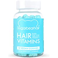 SugarBearHair Vitamins, Vegetarian Gummy Hair Vitamins with Biotin, Vitamin D, Vitamin B-12, Folic Acid, Vitamin A (1…