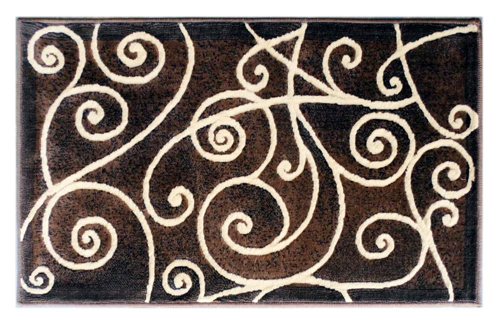 Amazon.com: Gallery Modern Door Mat Area Rug Design GL 23 Chocolate on