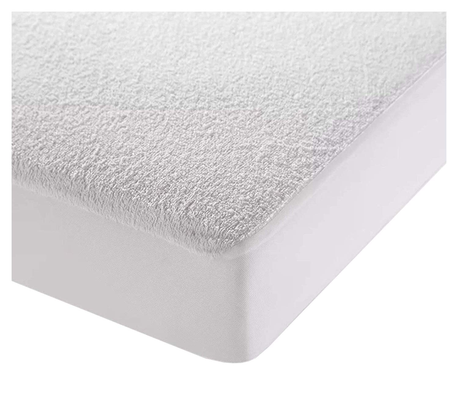 Lancashire Textiles Single Waterproof Terry Towelling Mattress Protector
