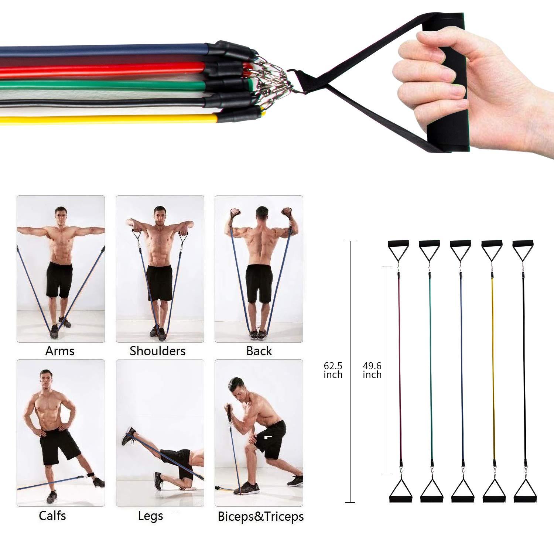 NGOZI Bandas de Resistencia Pilates Entrenamiento de Fuerza Estiramientos Crossfit Bandas El/ásticas de Fitness Bandas de Ejercicios de Resistencia con Bolsa de Malla para Yoga Fisioterapia