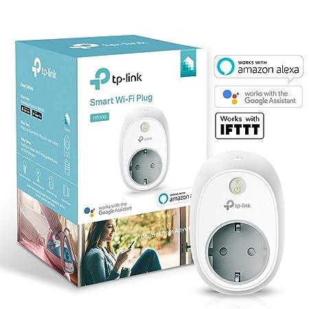 TP-Link HS100 (EU) Kasa Smart WLAN Steckdose, funktionieren mit Amazon Alexa (Echo und Echo Dot, Google Home und IFTTT, Kein