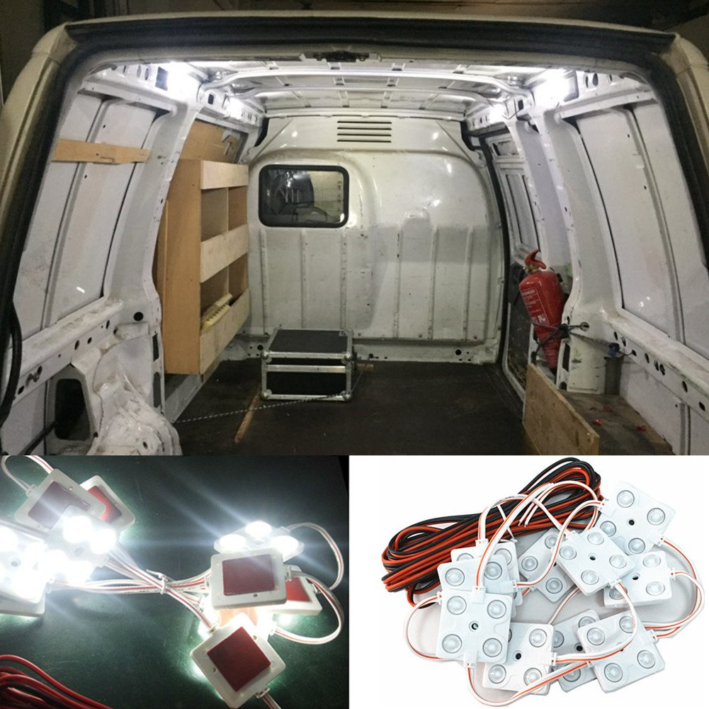 Luces de techo de 12 V 40 LED para interior de coche, para furgoneta, tunk, caravana, barco, remolque WDragon