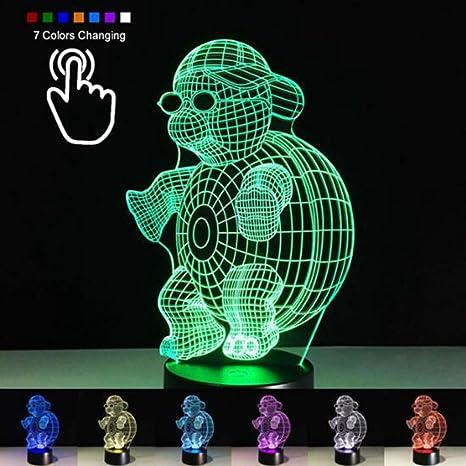 Creative Ninja tortuga 3d noche luz en tridimensional LED ...