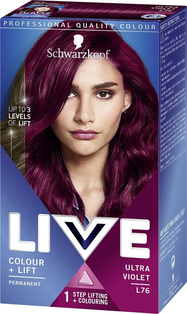 Schwarzkopf LIVE Intense Colour Permanent 043 Red Passion - Pack of 3 Schwarzkopf & Henkel 05012583002925