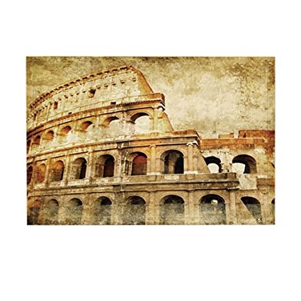 Amazon.com: NYMB Historical Site Decor Bath Rugs By, Famous Rome ...
