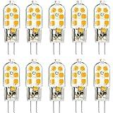 KINGSO 10 Pack Ampoule LED G4 3W Économie d'énergie Équivalent 25W Lampe Halogène/Incandescente Ampoules Maïs 360°Angle de faisceau AC/DC 12V 250LM Blanc Chaud 3000K